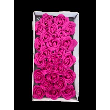 SHIOK 25pcs 5 Layer Rose Fragrant Scented Soap Flower For Bouquet Decoration Gubahan Bunga Cantik Wangi AF0157